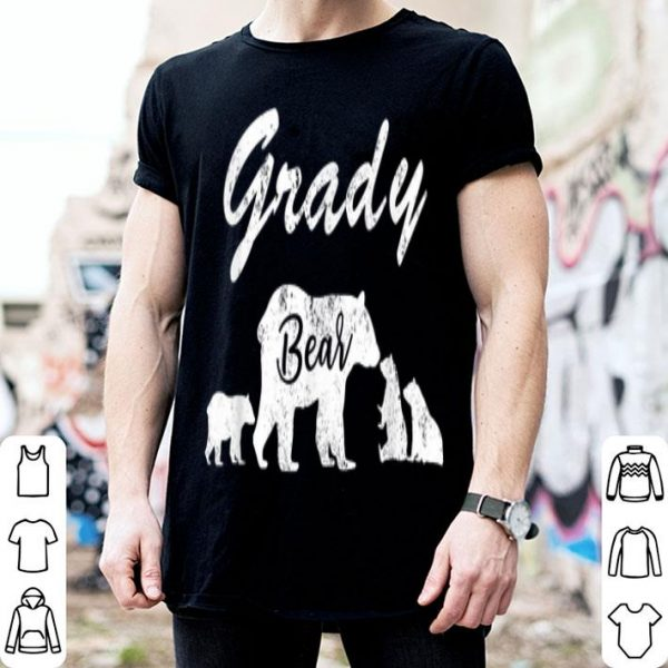 Mens Grady Bear T With Three Cubs - Father Day Gifts Tee Shirt