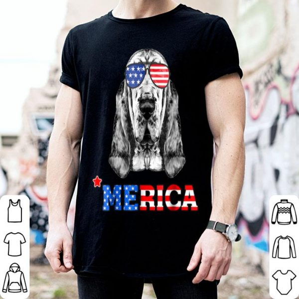 Merica Funny Bloodhound 4th Of July Gifts Tees Shirt