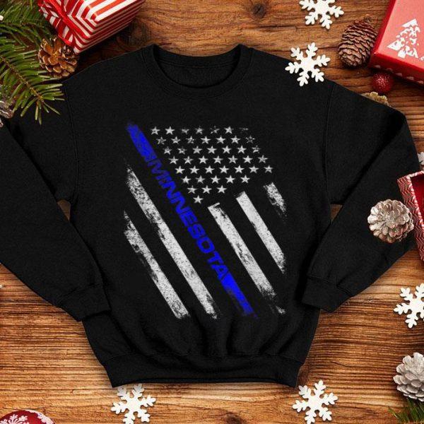 Minnesota Police Thin Blue Line American Flag shirt