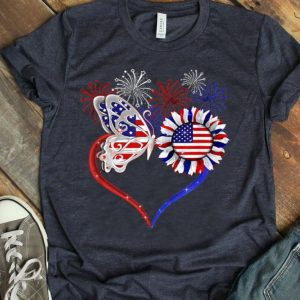 Nurse The Butterfly And Sunflower America shirt