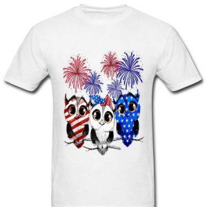 Owl Flag Colors, Owl Smile, Owl American Flag Happy Shirt