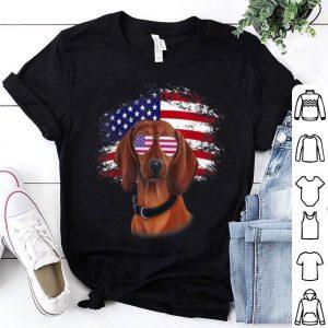 Patriotic American Flag Dachshund shirt