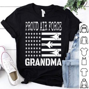 Red White Blue Air Force Flyover Proud American Flag shirt