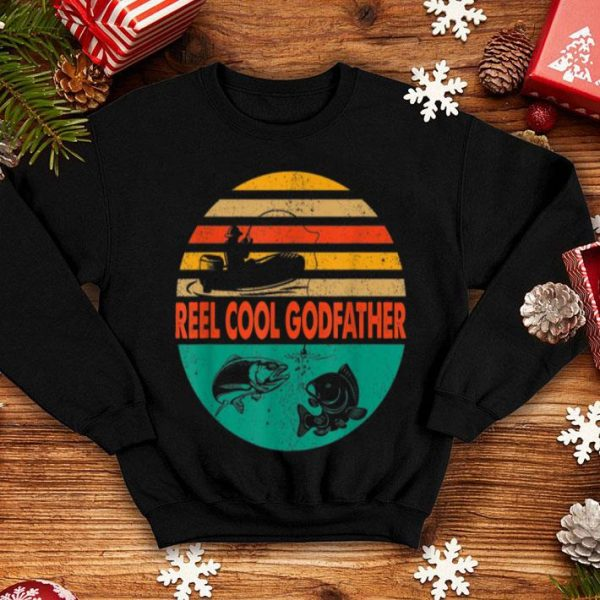 Reel Cool Godfather Fishing Father Day Shirt