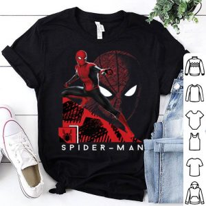 Spider-man Far From Home Portrait Tech Background Shirt