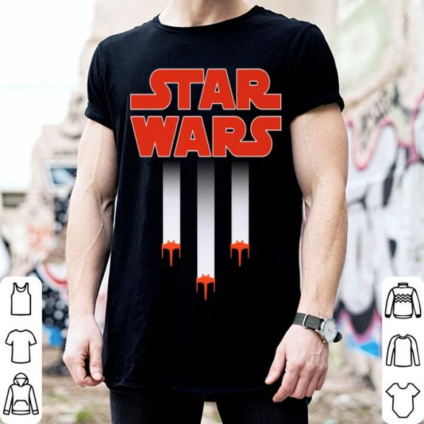 Star Wars Xwing Starfighter American Flag shirt