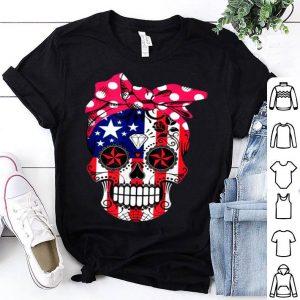 Sugar skull American flag red bandanasugar skull USA flag shirt