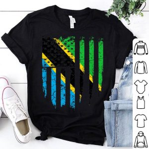 Tanzanian American Tanzania & America Flag shirt