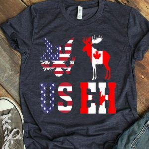 USEH America Canada Flag Funny USA American Canadian shirt
