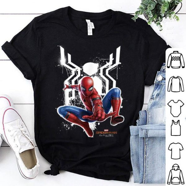 White Spider Spider-man Far From Home Painted Logo Swing Shirt