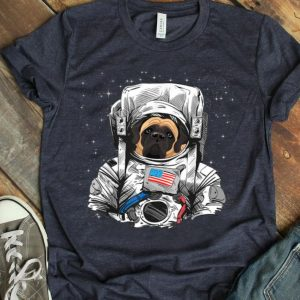 4th Of July American Mastiff Dog Astronaut Suit In Space shirt