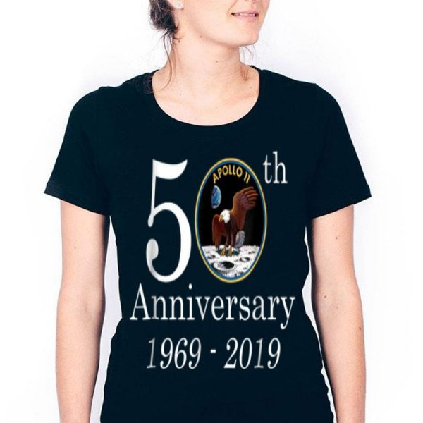 50th Anniversary 1969-2019 Apollo 11 First Step On The Moon NASA Moon Landing shirt