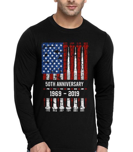 50th Anniversary Apollo 11 Moon Landing Flag American First Step On The Moon shirt