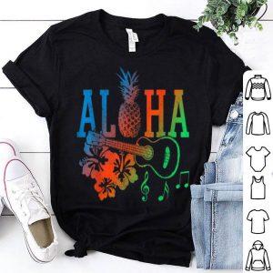 Aloha - Hawaiian Pineapple Ukulele Hibiscus Summer shirt