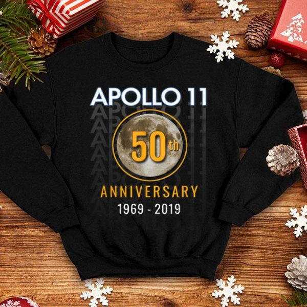 Apollo 11 50th 1969 Golden Anniversary Moon Tee shirt