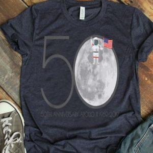 Apollo 11 50th Anniversary Moon Lunar Landing 1969 2019 shirt
