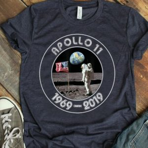 Apollo 11 First Step On The Moon 50th Anniversary Distressed Retro shirt