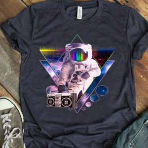 Astronaut Holding Boombox Vaporwave Outer Space Art shirt