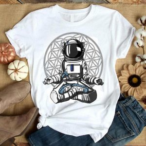 Astronaut Yoga Meditation Space Flower Of Life shirt