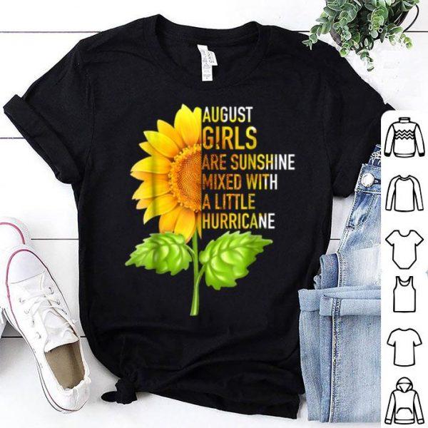 August Girls Are Sunshine Sunflower Birthday shirt