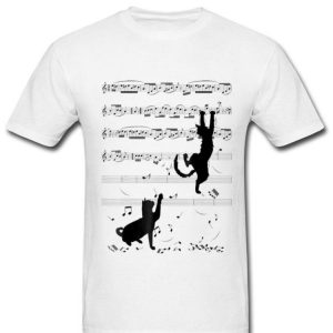 Black Cats Playing With Music Note Cat Lover shirt