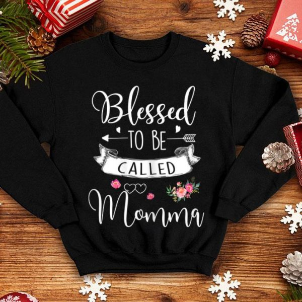 Blessed Momma Floral, Heart Blessed To Be Called Momma shirt