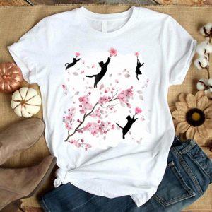 Cherry Blossom Cat For Men Women Cat Lovers shirt