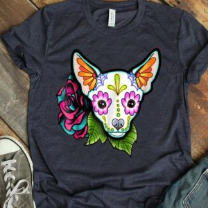 Chihuahua In White - Day Of The Dead Sugar Skull Dog shirt