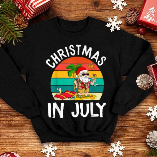 Christmas In July Santa Hawaiian Summer shirt