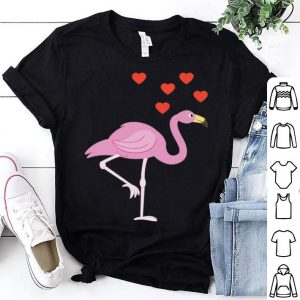 Flamingo Hearts Cute Bird Animal Lover Pride Pink Flamingo Premium shirt