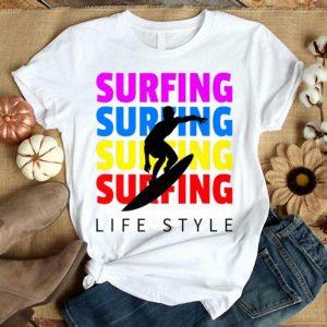 Fun Summer Surfing Lifestyle Surfboard Lover Beach Vacation Premium shirt