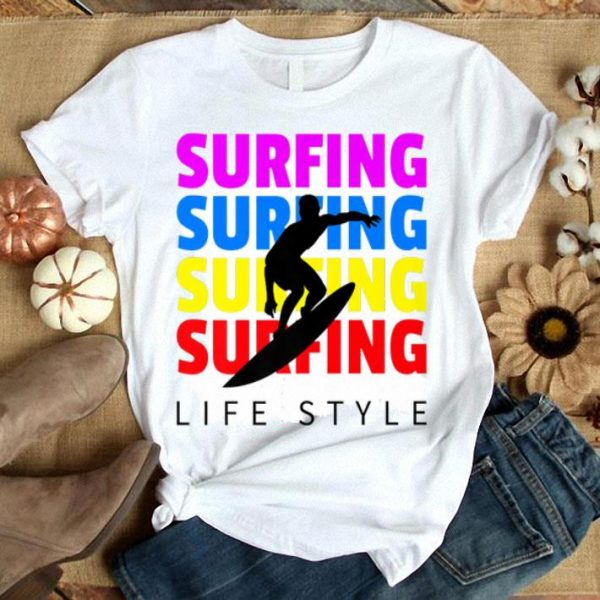 Fun Summer Surfing Lifestyle Surfboard Lover Beach Vacation Premium shirt