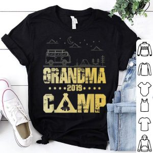 Grandma Camp 2019 Family Vacations Vintage Camping shirt