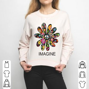 Imagine Flowers Hippie Peace Sign Birthday shirt