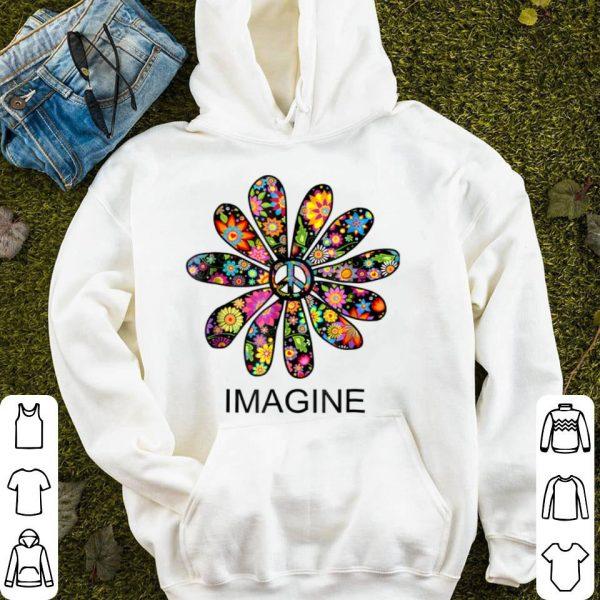 Imagine Flowers Hippie Peace Sign Birthday shirt