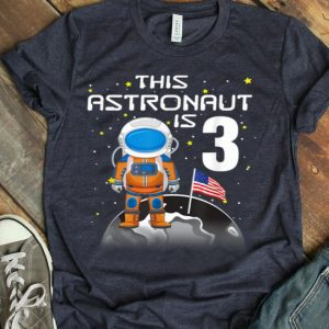 Kids 3rd Birthday Astronaut One Step Boys 3 Year Old shirt