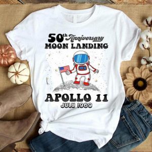 Kids Moon Landing First Step On The Moon White Apollo 11 50th Anniversary shirt