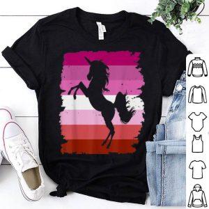 Lesbian Unicorn Pride Flag LGBT Pride shirt
