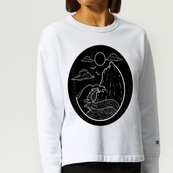 Minimalist Wave Retro Beach Surfing Vacation Surfer shirt