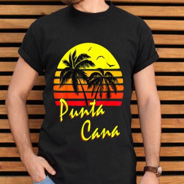 Punta Cana 80S Summer Beach Palm Tree Sunsetshirt
