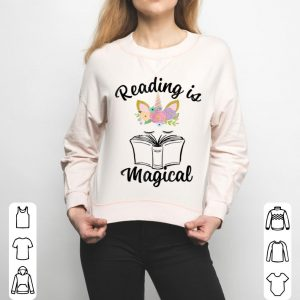 Reading Is Magical Unicorn Face Book Lover Gift shirt