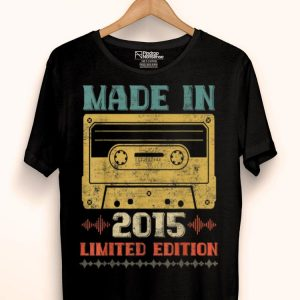 Retro Classic Music Lover Made In 2015 4th Birthdays 4 Yrs shirt