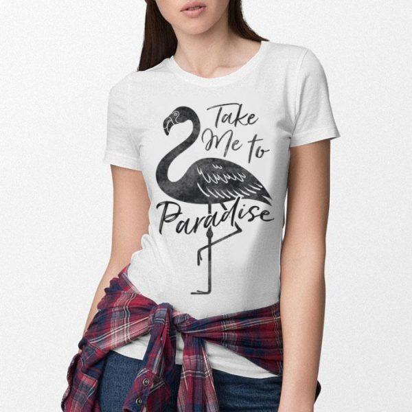Take Me To Paradise Flamingo Vintage Tropical shirt