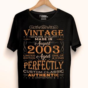 Authentic Made In August 2003 16th Birthday shirt
