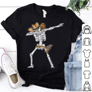 Beautiful Cowboy Halloween Skeleton Dabbing shirt