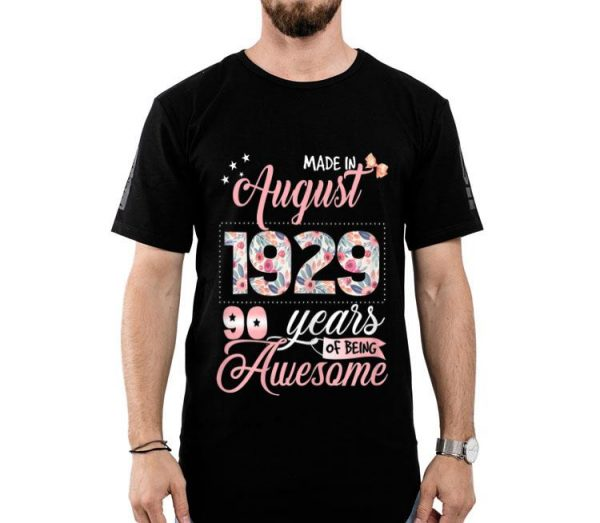 Birthdays Floral Born In August 1929 shirt