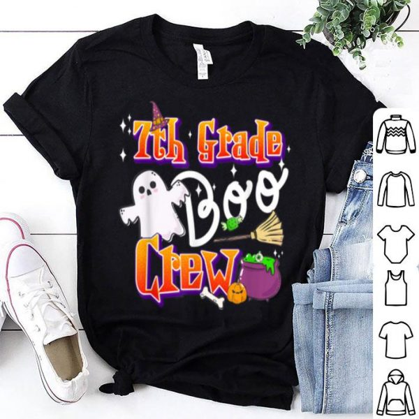 Hot 7th Grade Boo Crew Back To School Kids Halloween Gift shirt