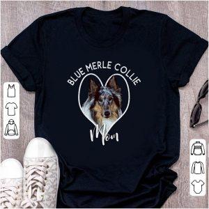 Hot Blue Merle Collie Mom shirt