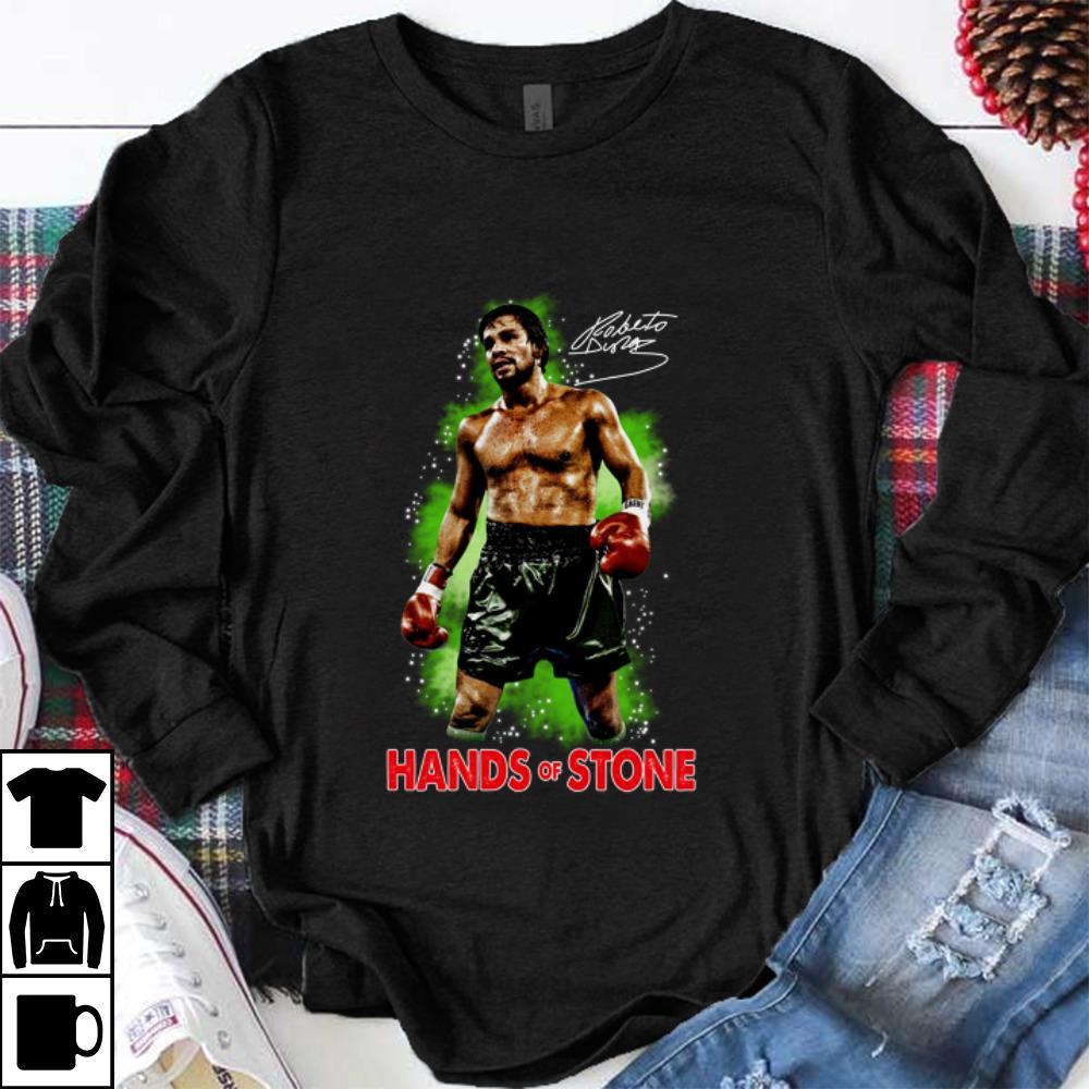 Hot Roberto Duran Hand Of Stone Signature shirt 1 - Hot Roberto Duran Hand Of Stone Signature shirt