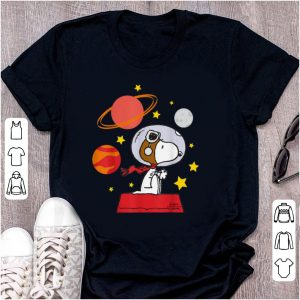 Nice Peanuts Snoopy Space Pilot Mars, Moon And Saturn shirt